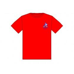 Κόκκινο μπλουζάκι 100% βαμβ.